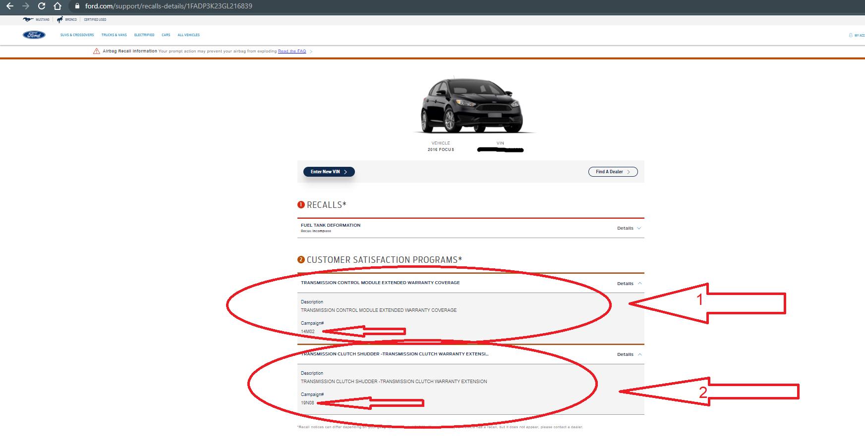 Гарантия на Форд Фокус из США 3